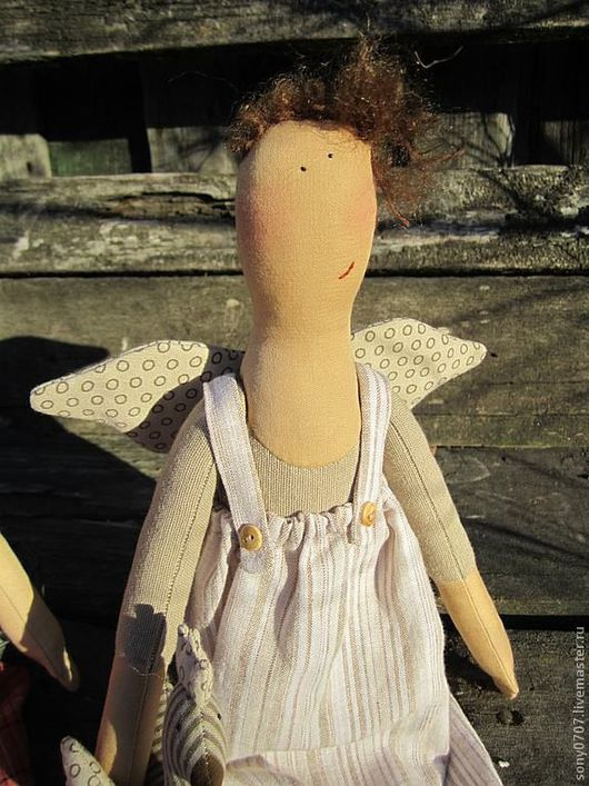 Коллекционные куклы ручной работы. Ярмарка Мастеров - ручная работа. Купить Домовушка ХОЗЯЙСТВЕННАЯ. Handmade. Текстильная кукла, домовые, лён