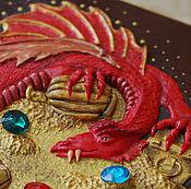 """Для дома и интерьера ручной работы. Ярмарка Мастеров - ручная работа Шкатулка """"Хранитель Сокровищ"""" (хоббит, толкиен, смауг, дракон). Handmade."""