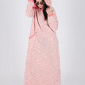 Одежда handmade. Livemaster - original item Knitted hooded long dress - DR0148CK. Handmade.