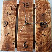 Для дома и интерьера ручной работы. Ярмарка Мастеров - ручная работа часы в стиле loft (цвет орех). Handmade.