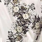 Материалы для творчества handmade. Livemaster - original item Fabric: Silk-stretch Flowers. Handmade.
