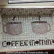 """Для дома и интерьера ручной работы. Ярмарка Мастеров - ручная работа Поднос """"Coffee morning"""". Handmade."""