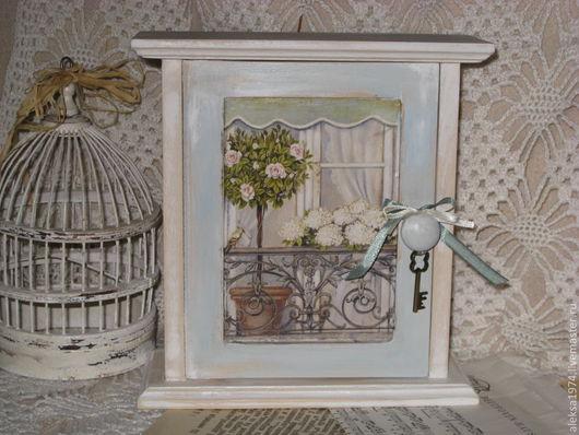 """Прихожая ручной работы. Ярмарка Мастеров - ручная работа. Купить Ключница """" Окно в сад"""". Handmade. Белый, прованский стиль"""