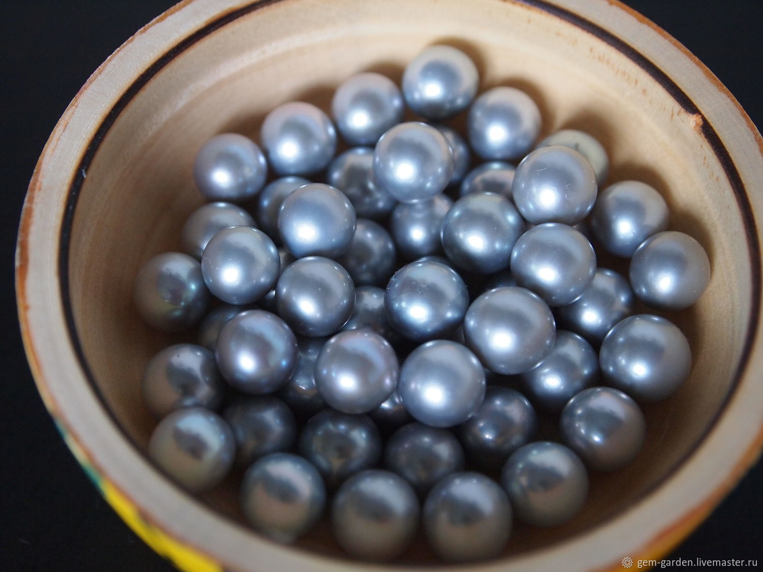 Freshwater Pearl Gray 8,5-9,0, Beads1, Moscow,  Фото №1