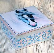 Для дома и интерьера ручной работы. Ярмарка Мастеров - ручная работа Шкатулка Белый конь. Handmade.