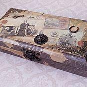"Для дома и интерьера handmade. Livemaster - original item Шкатулка-купюрница ""Ретро"". Handmade."