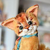 Куклы и игрушки ручной работы. Ярмарка Мастеров - ручная работа Котенок Сомали Куинси, абиссинский кот. Handmade.