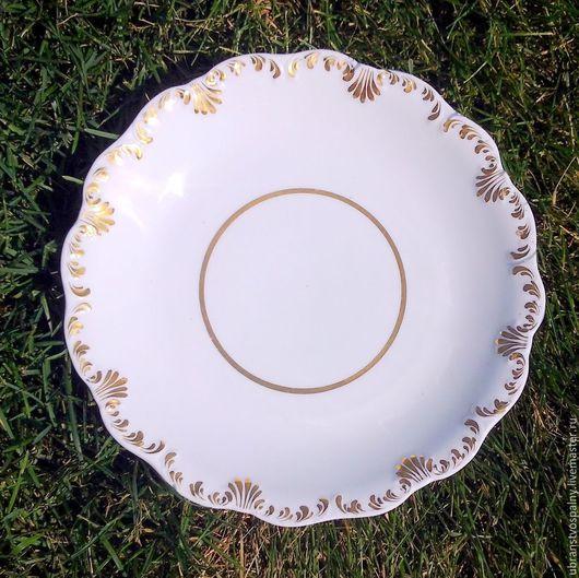 Винтажная посуда. Ярмарка Мастеров - ручная работа. Купить 200 лет ! Большая антикварная тарелка.. Handmade. Белый, тарелка