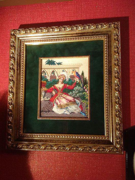 Люди, ручной работы. Ярмарка Мастеров - ручная работа. Купить Вышитая картина. Handmade. Картина