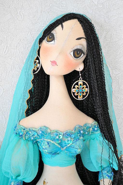 Коллекционные куклы ручной работы. Ярмарка Мастеров - ручная работа. Купить Лейла. Handmade. Бирюзовый, восточные мотивы