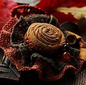 Украшения ручной работы. Ярмарка Мастеров - ручная работа Брошь Симфония осенних листьев. Handmade.