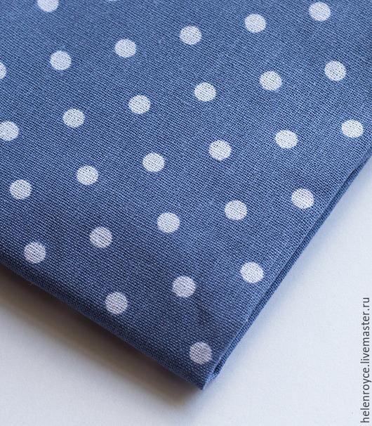 Шитье ручной работы. Ярмарка Мастеров - ручная работа. Купить Ткань Хлопок Горошек сине-голубой. Handmade. Хлопок