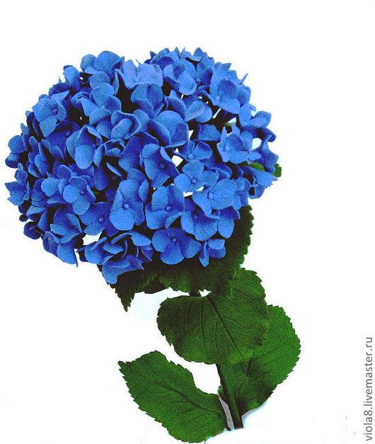 гортензия,цветы из полимерной глины,синий,гортензия бирюзовая,бирюзовый цвет,цветок,зелёный цвет,гортензия голубая.