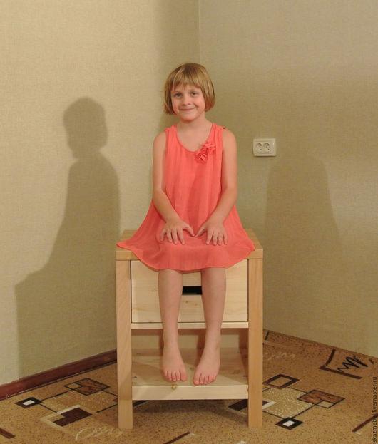Детская ручной работы. Ярмарка Мастеров - ручная работа. Купить Тумбочка деревянная. Handmade. Бежевый, тумба