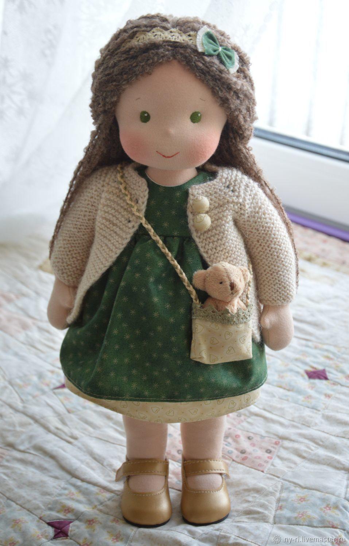 Вальдорфская кукла Зелень и золото, Вальдорфские куклы и звери, Таруса,  Фото №1