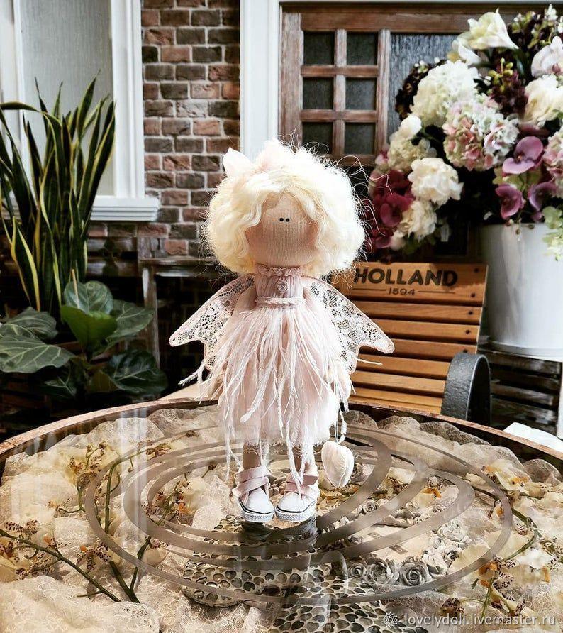 Doll: Angel pink Textile doll handmade, Dolls, Kiev,  Фото №1