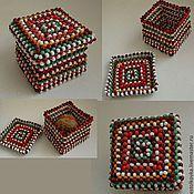 Для дома и интерьера ручной работы. Ярмарка Мастеров - ручная работа Шкатулка из бисера. Handmade.