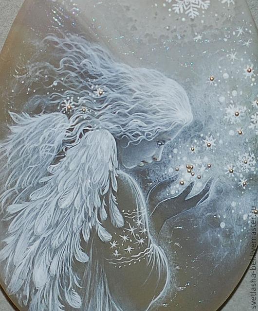 Кулоны, подвески ручной работы. Ярмарка Мастеров - ручная работа. Купить Снежный Ангел. Handmade. Серый, кулон