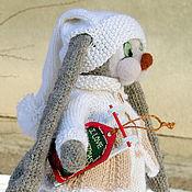 Куклы и игрушки ручной работы. Ярмарка Мастеров - ручная работа Вязаный заяц. Вязаная игрушка анти_тильда заяц. Handmade.