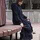 Верхняя одежда ручной работы. Пальто Чернильное. Наталья Цветкова (Yubki-vezdehody). Ярмарка Мастеров. Пальто с капюшоном, бохо стиль