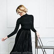 Одежда ручной работы. Ярмарка Мастеров - ручная работа Юбка плиссированная черная. Handmade.