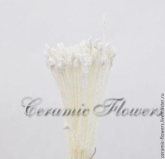 Материалы для флористики ручной работы. Ярмарка Мастеров - ручная работа. Купить Тычинки японские белые , мелкие для розы. Handmade. Белый