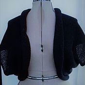 """Одежда ручной работы. Ярмарка Мастеров - ручная работа Жилет из кид-мохера """" Черный янтарь"""". Handmade."""
