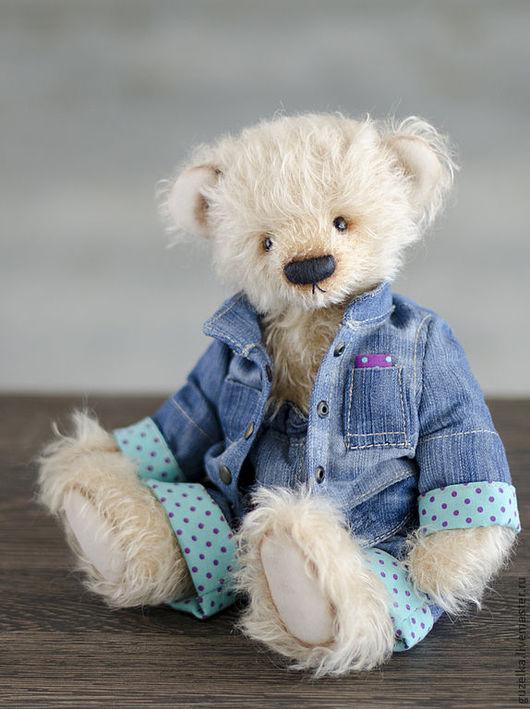 Мишки Тедди ручной работы. Ярмарка Мастеров - ручная работа. Купить Мишка тедди Герман в костюме. Handmade. Бежевый