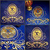 Дизайн ручной работы. Ярмарка Мастеров - ручная работа Пасхальный дизайн вышивальный. Handmade.
