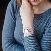 Украшения handmade. Livemaster - original item Bracelet made of stones dusty pink leather according to the sign of the zodiac. Handmade.