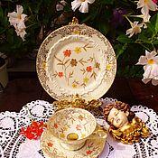 Винтаж handmade. Livemaster - original item Sorau Carstens.  Pre-war, tea trio.Germany.. Handmade.