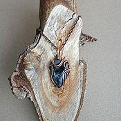 Украшения ручной работы. Ярмарка Мастеров - ручная работа Синий кулон с натуральным камнем. Handmade.