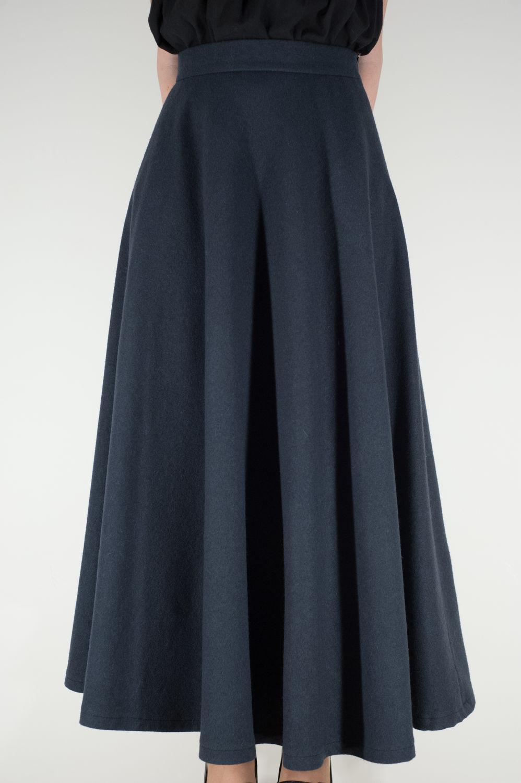 Купить серую юбку в пол