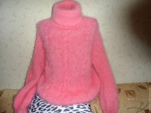 Кофты и свитера ручной работы. Ярмарка Мастеров - ручная работа. Купить Пуловер  из мохера розового цвета. Handmade. Розовый