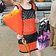 """Платья ручной работы. Заказать Платье ажурное """"Оранжевое настроение"""". Selifosha. Ярмарка Мастеров. Платье, хлопковое платье, хлопок"""