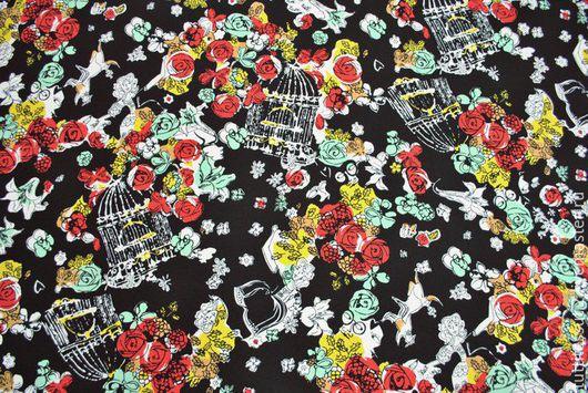 Шитье ручной работы. Ярмарка Мастеров - ручная работа. Купить Трикотаж 03-003-1721. Handmade. Разноцветный, юбочная ткань