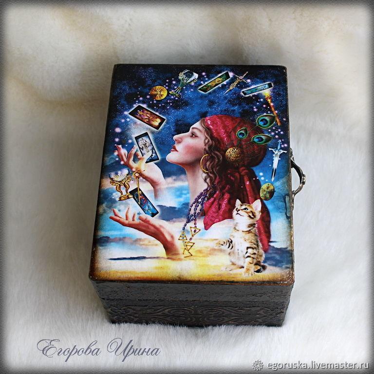 """Шкатулка для карт Таро """"Тайны зазеркалья"""", Box, Moscow,  Фото №1"""