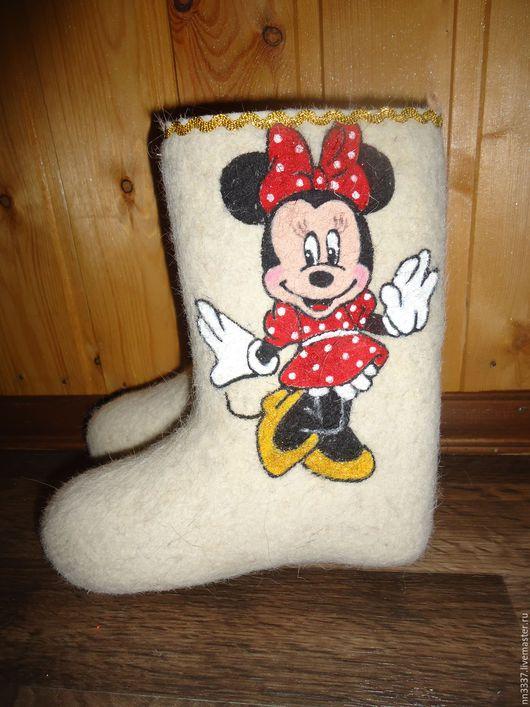 """Обувь ручной работы. Ярмарка Мастеров - ручная работа. Купить Валенки детские """"Минни"""". Handmade. Белый, валенки ручной работы"""