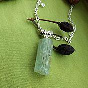 Фен-шуй и эзотерика handmade. Livemaster - original item Pendant with aquamarine crystal. Handmade.