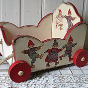 """Для дома и интерьера ручной работы. Ярмарка Мастеров - ручная работа Тележка для игрушек """" Веселые ребята """". Handmade."""