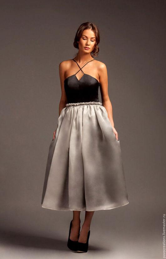 Платья ручной работы. Ярмарка Мастеров - ручная работа. Купить Платье коктейльное с двойной юбкой. Новая цена 12.000 руб.. Handmade.