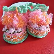 Обувь ручной работы. Ярмарка Мастеров - ручная работа Сувенирные сапожки для принцесы. Handmade.