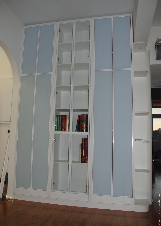Купить шкаф-стеллаж с распашными дверями на заказ в интернет.