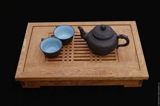 Мебель ручной работы. Ярмарка Мастеров - ручная работа. Купить Чайный столик (Чабань). Handmade. Коричневый, столик-поднос, масло