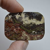 Материалы для творчества handmade. Livemaster - original item Indonesian moss agate. Cabochon 41 X 29 X 5. Handmade.
