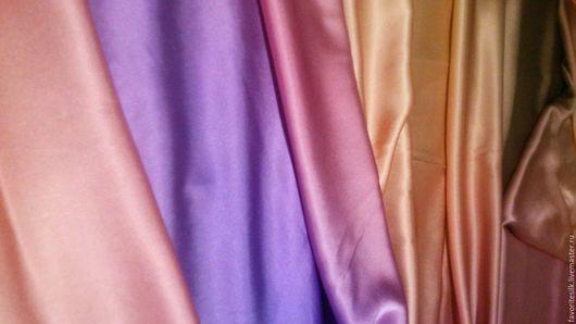 Шитье ручной работы. Ярмарка Мастеров - ручная работа. Купить Шёлк с эластаном омбре. Handmade. Натуральный шелк, итальянские ткани