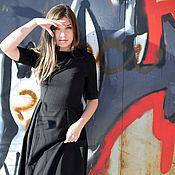 Платья ручной работы. Ярмарка Мастеров - ручная работа Маленькое черное платье, зимнее нарядное платье с пышной юбкой. Handmade.