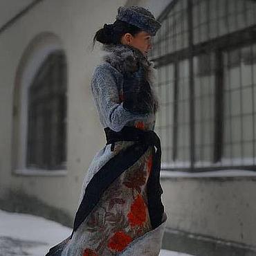 Одежда ручной работы. Ярмарка Мастеров - ручная работа Авторская ручная работа Валяное пальто Ветка рябины. Handmade.