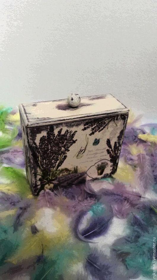 """Шкатулки ручной работы. Ярмарка Мастеров - ручная работа. Купить Короб """"Лаванда"""". Handmade. Комбинированный, короб для хранения, шебби"""