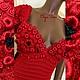 """Платья ручной работы. Ярмарка Мастеров - ручная работа. Купить Вязаное платье """"The lady in red"""" от Olga Lace. Handmade."""